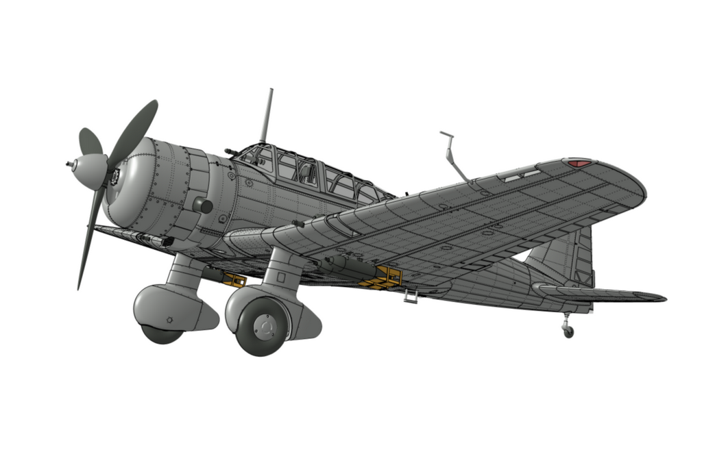 "IJA Type 99 Ki-51 ""Sonia"" in 1/48th pre-production CAD model"
